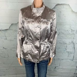 NEW CHICO'S Silver Sheen Jacket